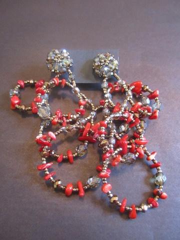 Celedonio Rojo Stone Earrings