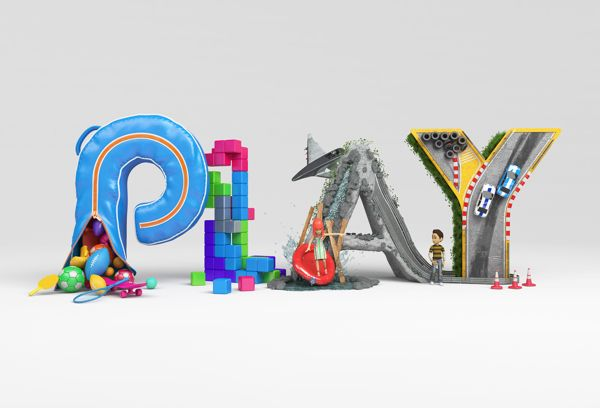 Listen / Play / Watch posters for Xbox creative studio in Crazy Typography by Chris LaBrooy