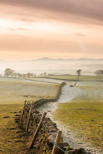 Croglin on the edge of the Pennines looking over towards the Lakeland Fells, UK by Rob Sutherland
