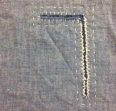 by DARNED AND DUSTED. I love beautiful stitched mending! #darning #makedoandmend