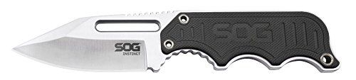 SOG Specialty Knives and Tools Instinct Fixed Blade Knife NB1012-CP with 2.3-Inch Steel Blade and Steel Handle, Satin Polish Finish * Want additional info? Click on the image.
