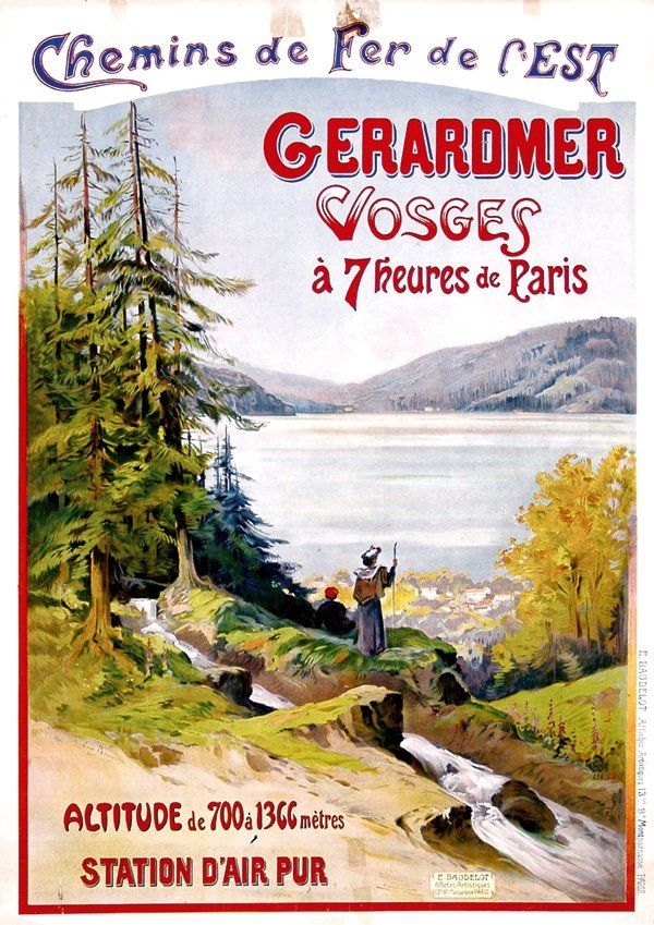 423 poster by eug ne v bourgeois gerardmer vosges on - Office tourisme italien a paris ...