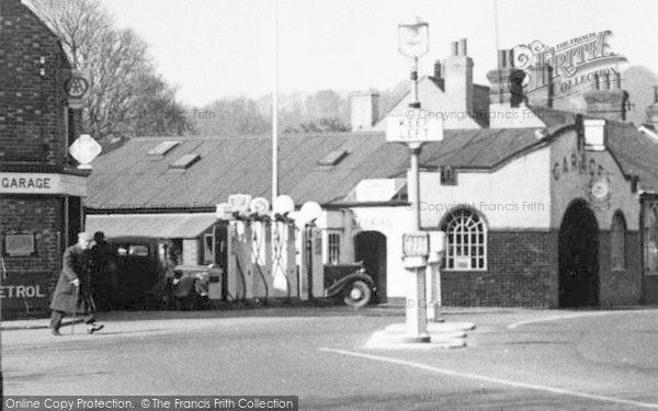 Merstham, Garage c.1955, from Francis Frith