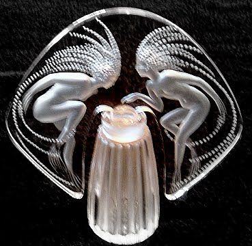 Lalique Crystal Ondines Perfume Bottle
