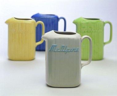 Crown Lynn fridge jugs that inspires the Retro Lynn Fridge jugs of today.. at www.themotelshop.co.nz