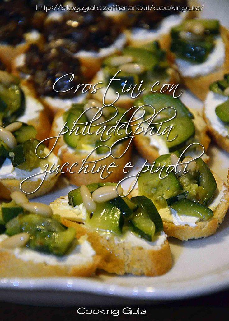 crostini | zucchine | pinoli | philadelphia | cooking giulia