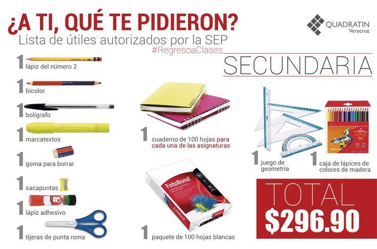 """Quadratin Veracruz on Twitter: """"#LoDeHoy #RegresoaClases Lista de útiles…"""