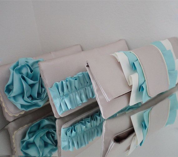 Bridesmaids clutches and gifts custom made in by EmmaGordonLondon, $69.00