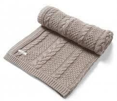 Výsledek obrázku pro pletená deka do kočárku