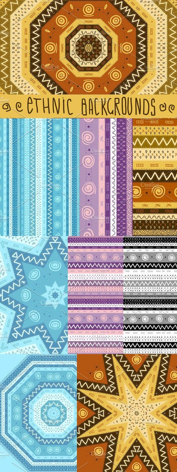 Ethnic African Seamless Background. Patterns. $6.00