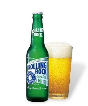 Rolling Rock, Latrobe Brewing Co., Missouri - 4.6% ABV American Adjunct Lager