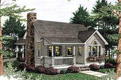 Cottage Style House Plan - 1 Beds 1 Baths 852 Sq/Ft Plan #406-215 Exterior - Front Elevation - Houseplans.com