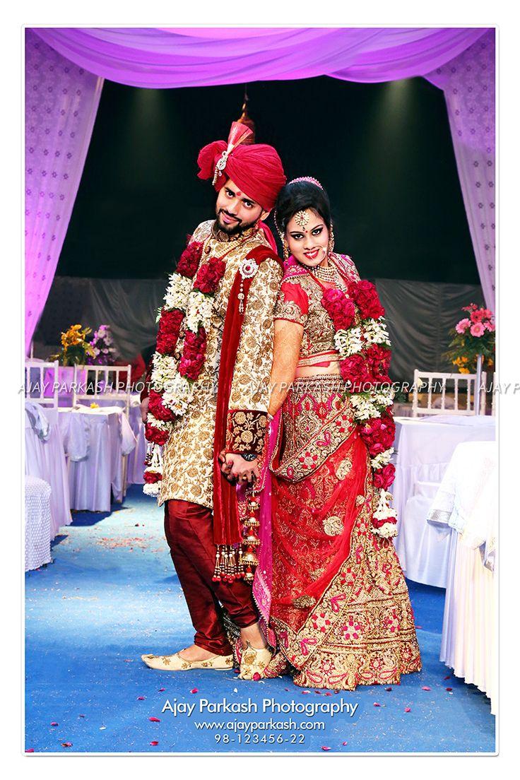 Wedding Portrait - Couple posing on their Wedding Day.