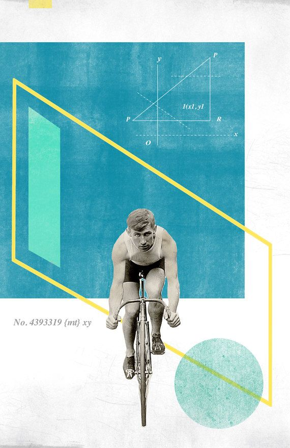 Bicycle No4 Collage Poster 11x17 von reconstructingideas auf Etsy, $20.00