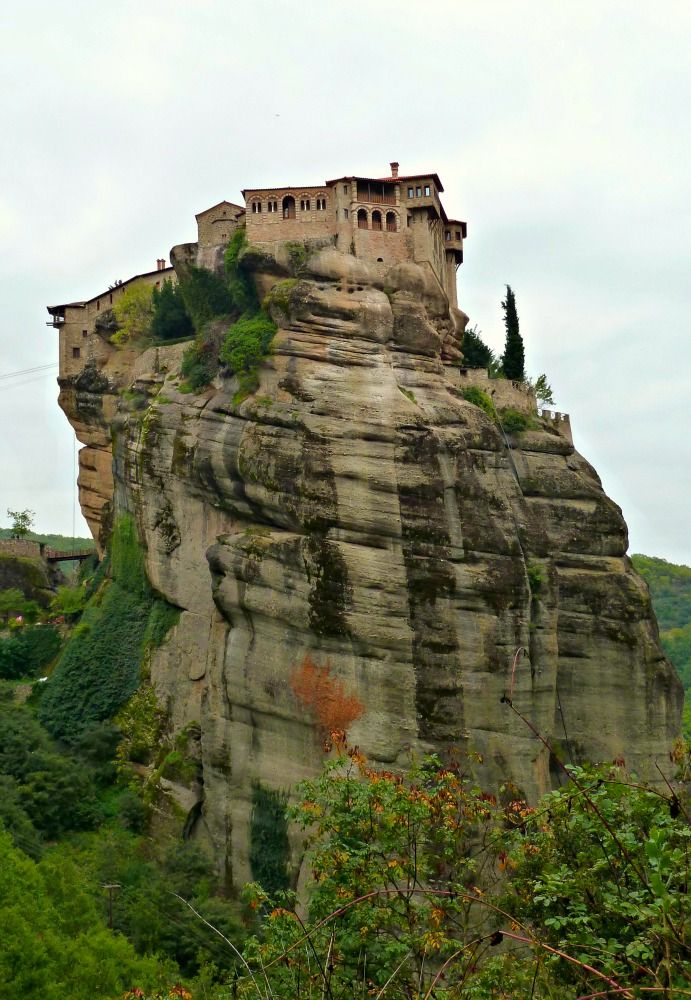 Woodland Walk to a Meteora Monastery in the Sky