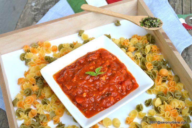 Sos marinara cu rosii si usturoi - sos de rosii pentru paste | Savori Urbane