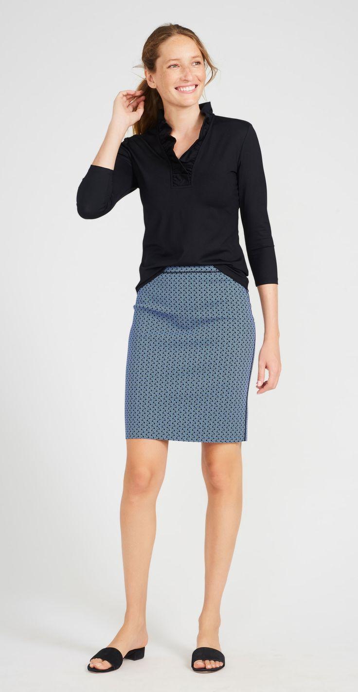 J.McLaughlin - Halle Reversible Skirt in Signature J Twill