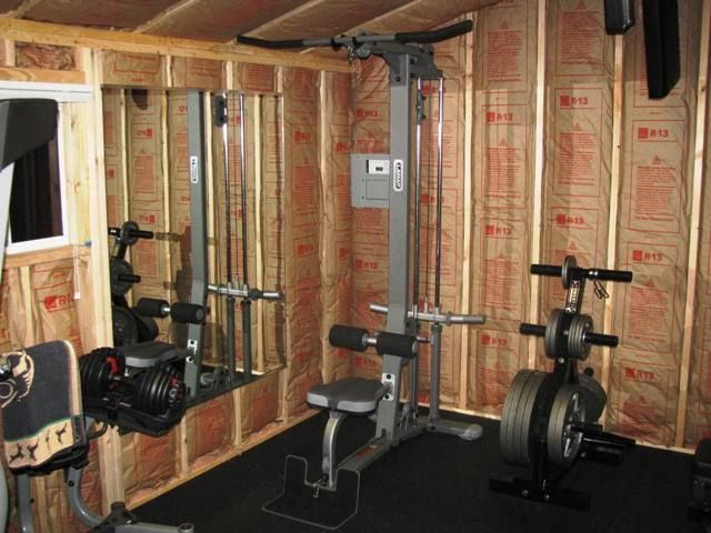 build gym from shed