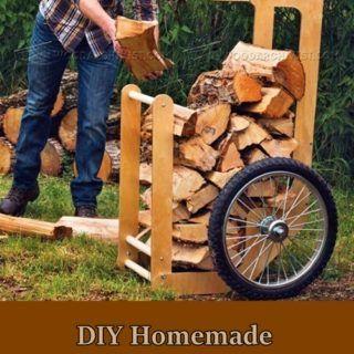 DIY Homemade Firewood Cart