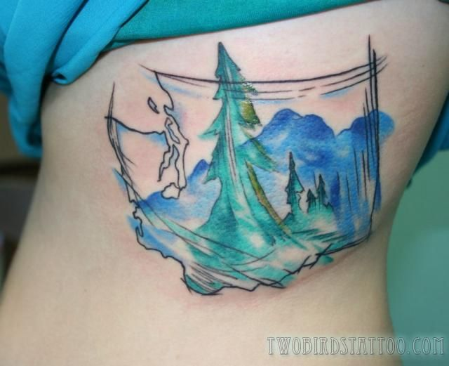 Would love this with a Montana theme to it. Two Birds Tattoo
