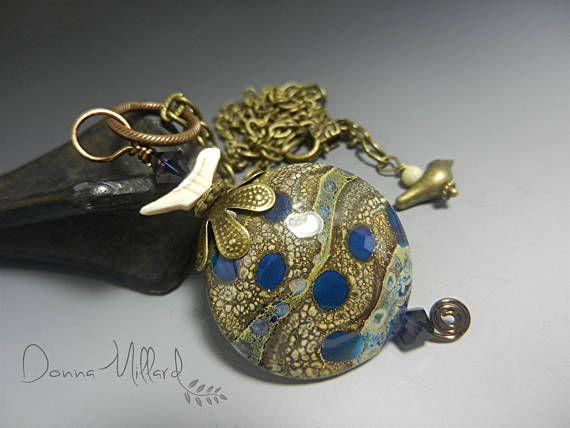 Artisan Lampwork Necklace Handmade Donna Millard artisan beads
