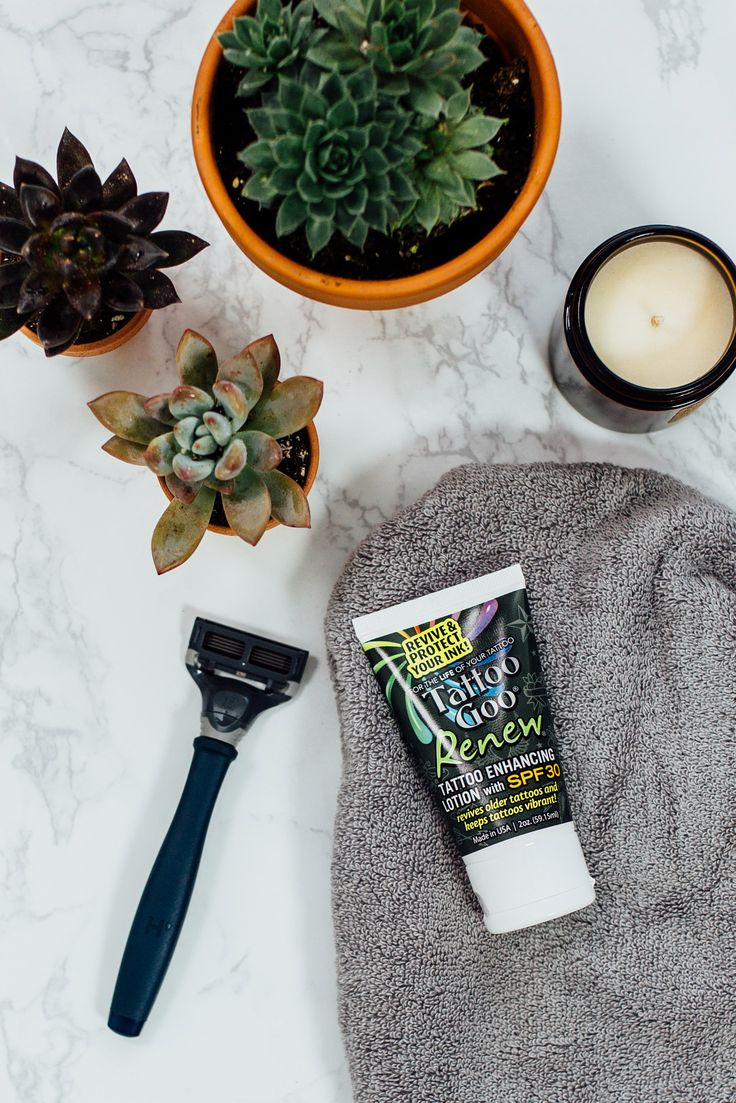 Before you head out, protect your healed ink with Tattoo Goo Renew with SPF30+. After all, protection from the sun=vibrant ink.