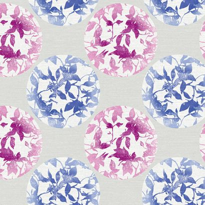 Pattern 'Earthbound' from York. Radiant Orchard and blue wallpaper.