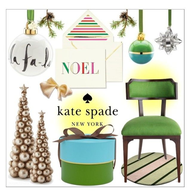 Kate Spade Christmas! by whirlypath on Polyvore featuring interior, interiors, interior design, home, home decor, interior decorating, Kate Spade and modern