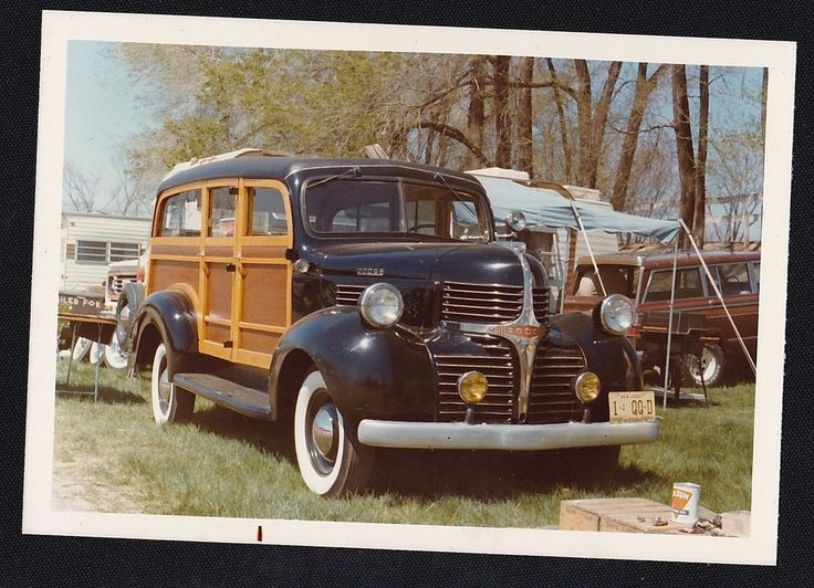 Old Vintage Photograph Cool Old Dodge Wagon / Car With New Jersey License Plates