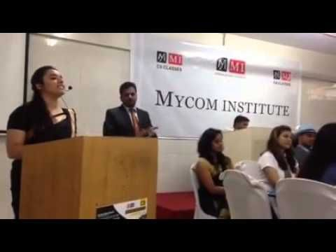MYCOM INSTITUTE is a leading Institute imparting professional education in the field of CA & CS  http://www.mycominstitute.in/facaulty...