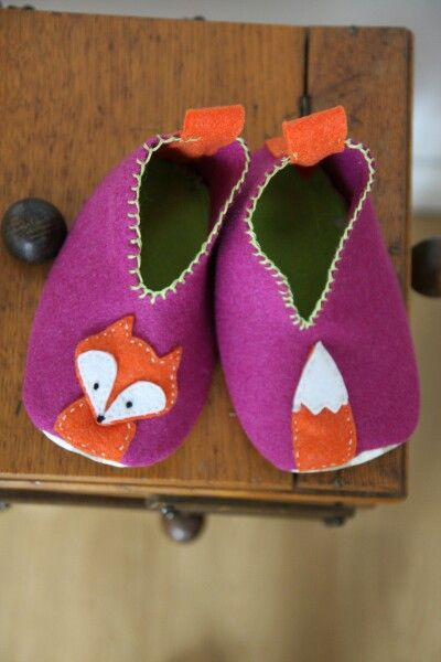 Felt slippers for kids, specificly for my son :)