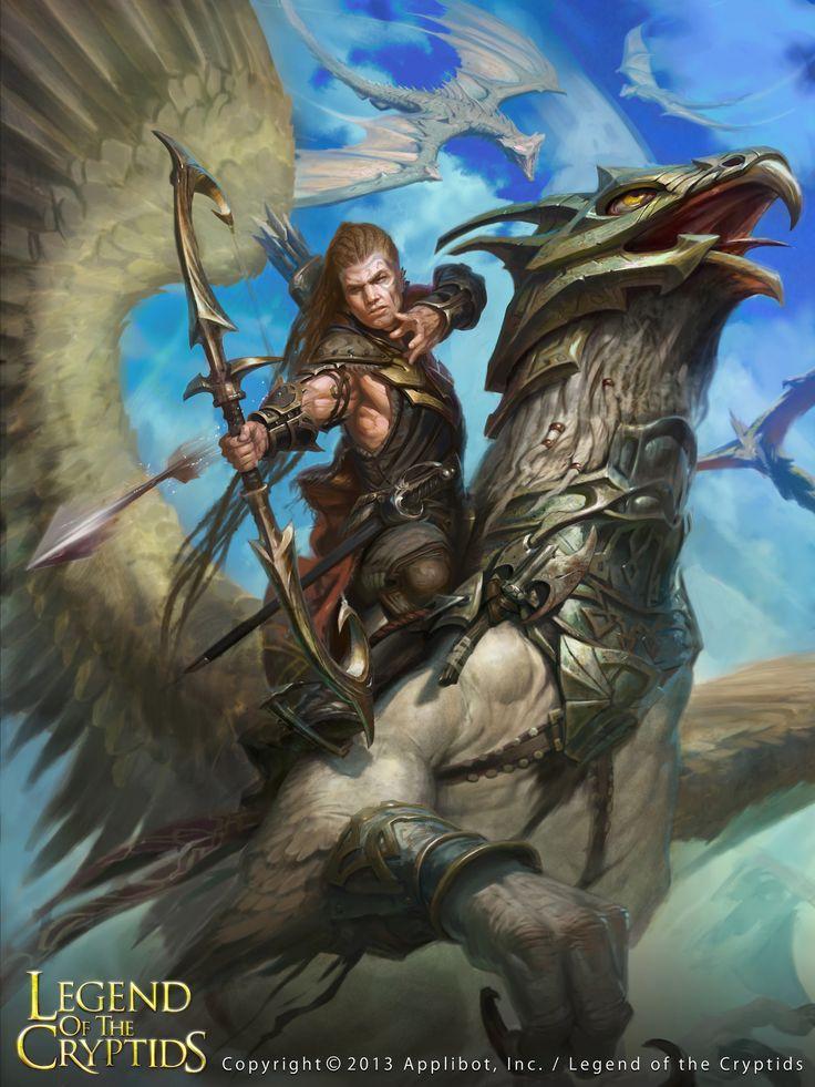 Artist: Hunter Schulz aka El Cazador - Title: Skyrider - Card: Allord, Hippogriff Rider