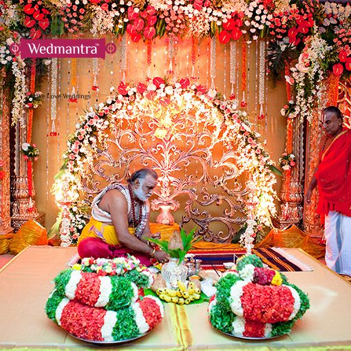 The priest preparing for the ceremony. #wedmantra #wedding  #indianwedding #weddinginindia #weddingplanner #eventplanner #traditionalwedding #traditional #weddingritual