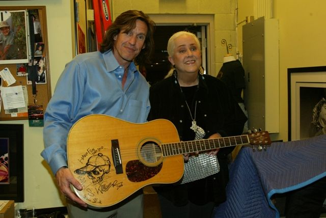 Grace Slick at ROCK STAR gallery with Michael Dunn.