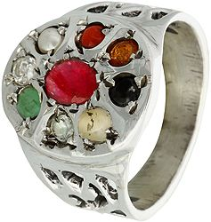 Navaratna Ring (Sterling Silver)