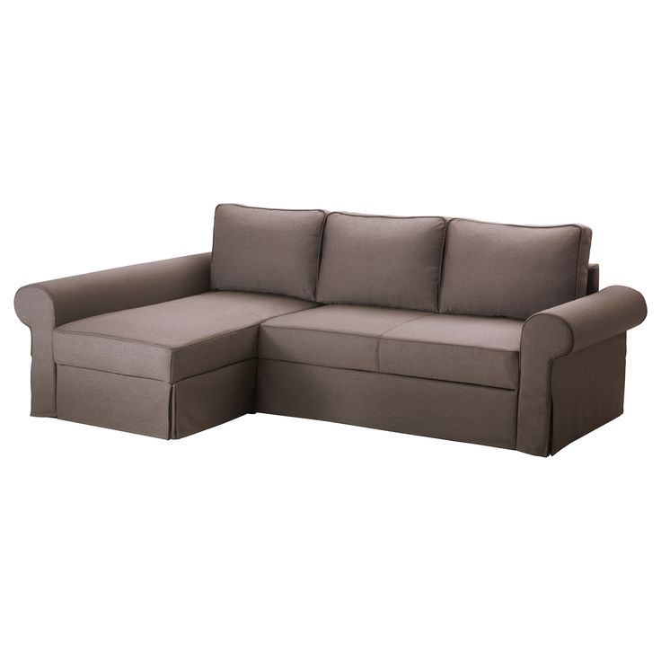 BACKABRO/MATTARP Divano letto con chaise-longue - Jonsboda marrone - IKEA