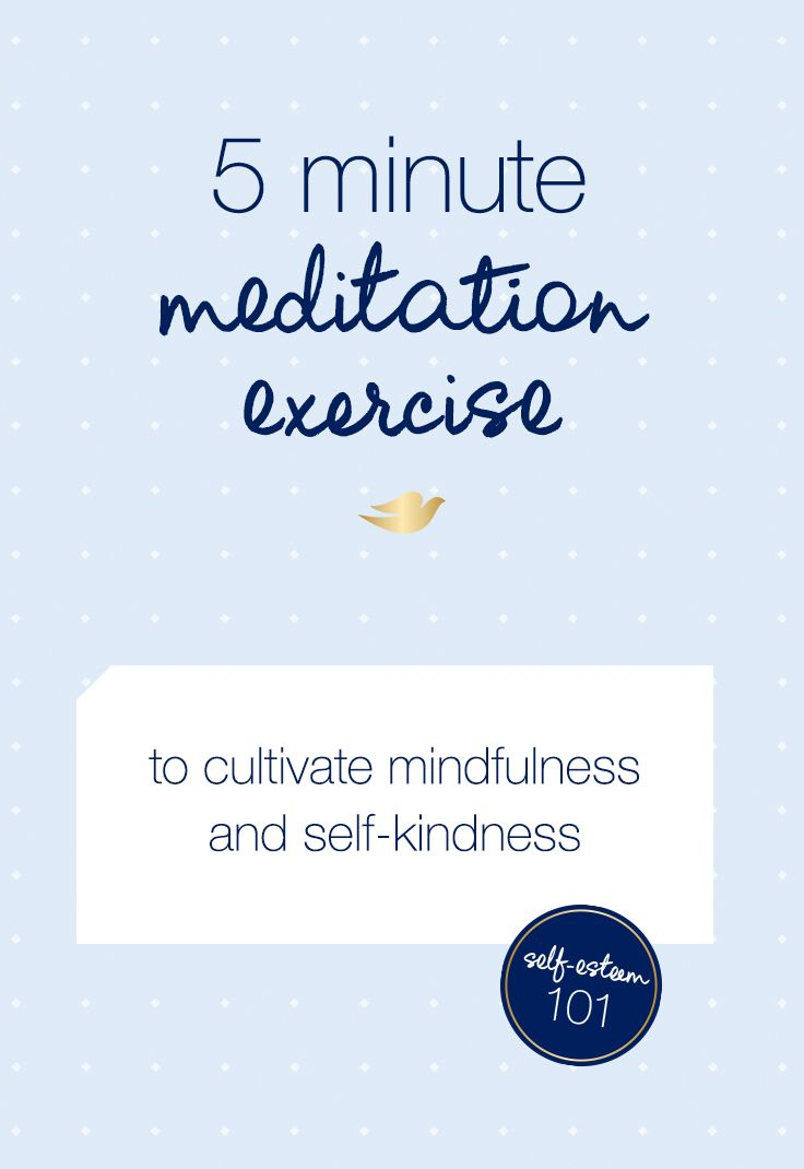 Try this quick meditation exercise on your lunch break to help practice mindfulness and self-kindness. This activity will take approximately 5 minutes and you'll need a quiet place to sit or lie down.