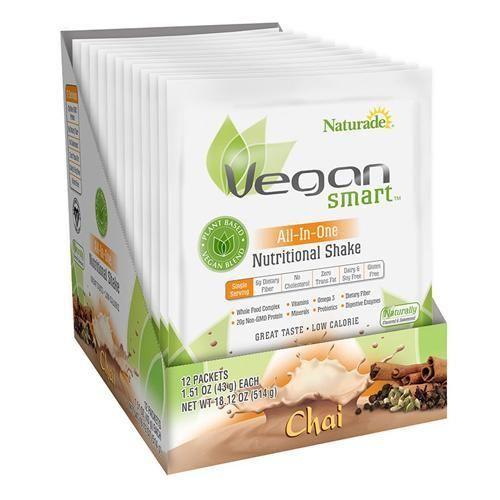 Naturade Vegansmart All-in-one Nutritional Shake - Chai - 1.51 Oz - Case Of 12