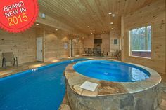 Cooper's Cove - Enjoy this BRAND NEW one of a kind secluded cabin with its own private INDOOR heated swimming pool. http://www.largecabinrentals.com/cabins/coopers-cove/