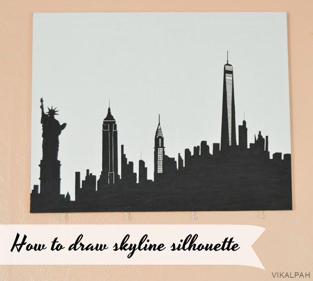 die 25 besten new york skyline silhouette ideen auf pinterest skyline von new york skyline. Black Bedroom Furniture Sets. Home Design Ideas