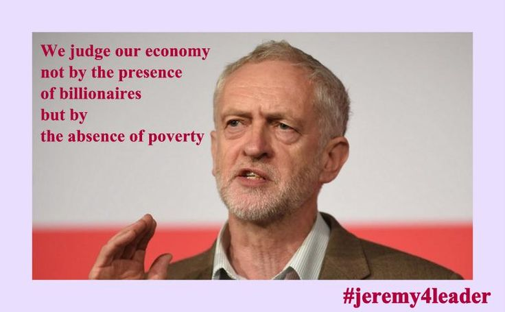 I agree with Jeremy Corbyn. #jeremy4leader