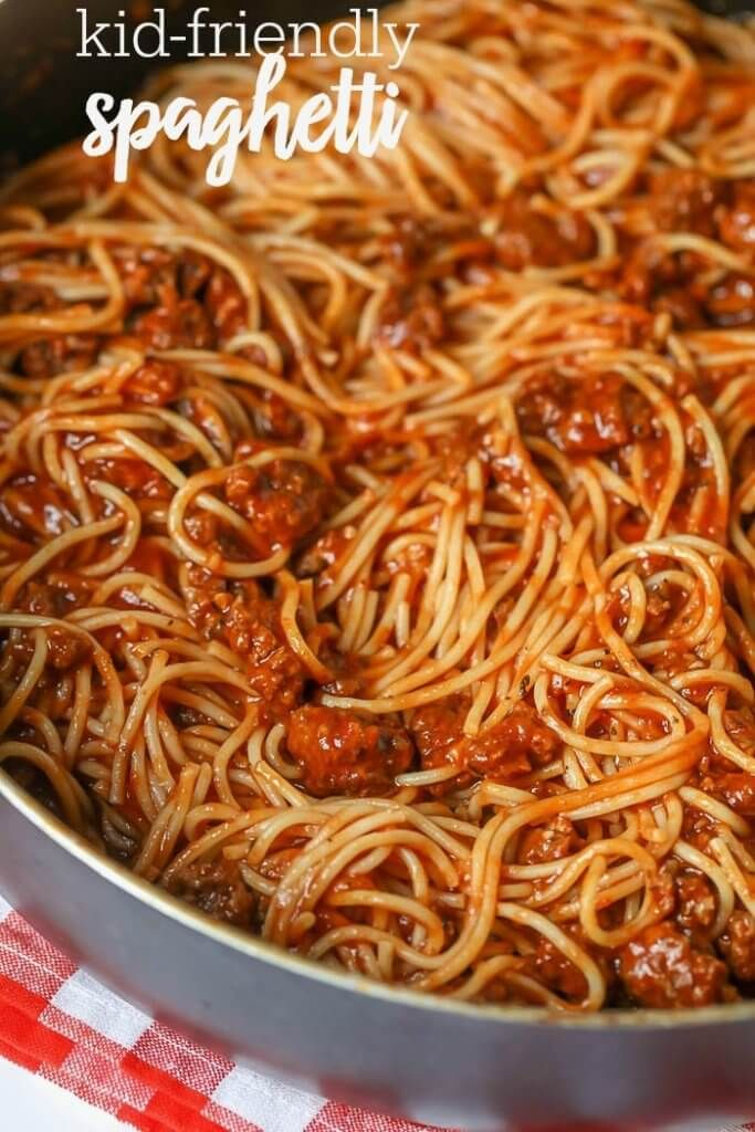 Kid Friendly Spaghetti Recipe With Homemade Sauce Video Lil Luna Recipe Spagetti Recipe Spaghetti Recipes Spaghetti Recipes Easy Try our 30 easy spaghetti recipes, including spaghetti bolognese and spaghetti carbonara. spaghetti
