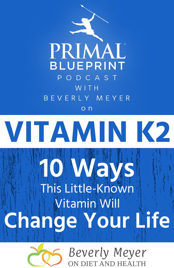 """I call Vitamin K2 the """"Cradle to Grave"""" nutrient as we ALL need it every day of our lives. We don't store Vitamin K2 like we do the other fat soluble vitamins so we have to have it daily. Listen in to find out 10 ways Vitamin K2 can change your life! // @ondietandhealth"""