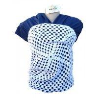 Wrap Sling Malha 100% Algodão Penteada - Azul Escuro com Crochet