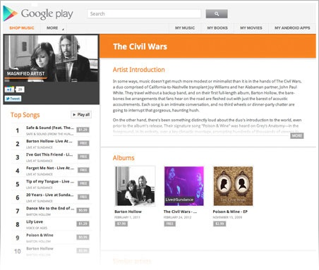 http://play.google.com/artists/ You don't need a record deal to get started; just a Google account and your original music (with all the rights). pretty good idea.. let the creativity begin ;-)