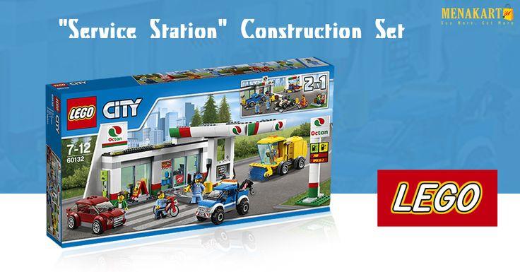 Lego Service Station Construction Set Online at Menakart #Lego #Online #Toys #Constructionset #kids #games