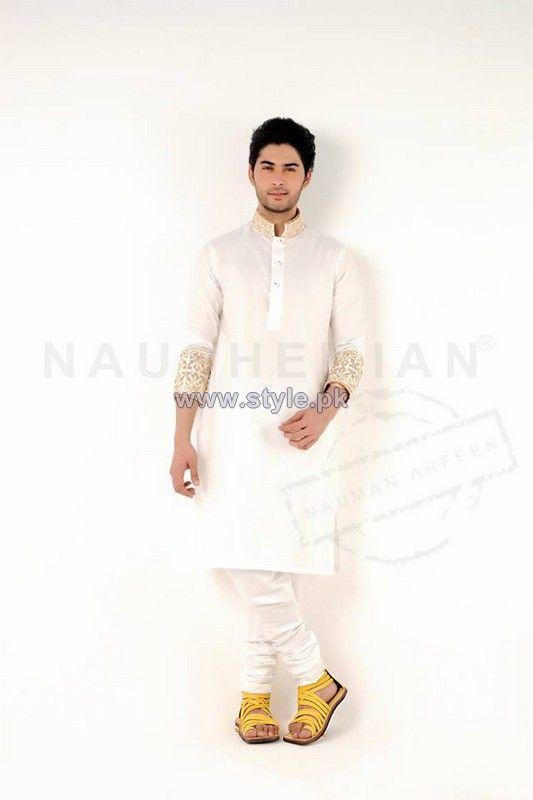 Naushemain Kurta Shalwar Designs 2014 For Men 4
