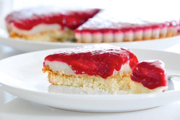 "Vanille Kokosmilch ""Cheesecake"" mit Beerenmark glutenfrei, vegan & fructosearm"