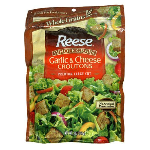^^ SPECIAL OFFER AHEAD!: Reese Whole Grain Croutons, Cheese Garlic, 5-Ounce Packages (Pack of 12) at Dinner Ingredients.