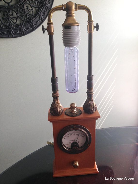 steampunk lamp by laboutiquevapeur on etsy
